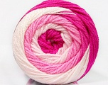 Fiber Content 100% Acrylic, White, Pink Shades, Brand Ice Yarns, Yarn Thickness 3 Light  DK, Light, Worsted, fnt2-51511