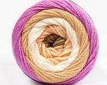 Fiber Content 100% Acrylic, White, Orchid, Khaki, Brand ICE, Cream, Yarn Thickness 3 Light  DK, Light, Worsted, fnt2-51518