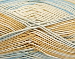 Fiber Content 50% Cotton, 50% Acrylic, Light Brown, Light Blue, Brand ICE, Cream, Yarn Thickness 2 Fine  Sport, Baby, fnt2-52915