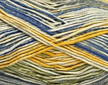 Fiber Content 50% Cotton, 50% Acrylic, Yellow, Brand ICE, Green, Cream, Blue, Yarn Thickness 2 Fine  Sport, Baby, fnt2-52919