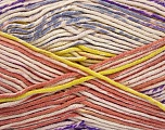 Fiber Content 50% Cotton, 50% Acrylic, Yellow, Salmon, Lilac, Brand ICE, Cream, Yarn Thickness 2 Fine  Sport, Baby, fnt2-52920