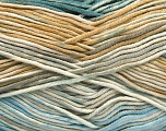 Fiber Content 50% Cotton, 50% Acrylic, Turquoise, Light Blue, Brand ICE, Grey, Cream, Beige, Yarn Thickness 2 Fine  Sport, Baby, fnt2-53164