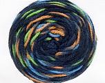 Fiber Content 80% Acrylic, 20% Polyamide, Navy, Brand ICE, Green, Cafe Latte, Blue, Yarn Thickness 4 Medium  Worsted, Afghan, Aran, fnt2-53209