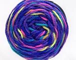 Fiber Content 80% Acrylic, 20% Polyamide, Purple, Neon Colors, Brand ICE, Yarn Thickness 4 Medium  Worsted, Afghan, Aran, fnt2-53214