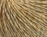 Fiber Content 50% Wool, 50% Acrylic, Brand ICE, Cream melange, Yarn Thickness 4 Medium  Worsted, Afghan, Aran, fnt2-53616
