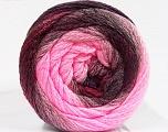 Fiber Content 90% Acrylic, 10% Polyamide, Pink Shades, Maroon, Brand Ice Yarns, Burgundy, fnt2-53722