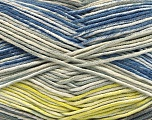Fiber Content 50% Acrylic, 50% Cotton, Yellow, Brand ICE, Grey Shades, Cream, Blue, Yarn Thickness 2 Fine  Sport, Baby, fnt2-53760