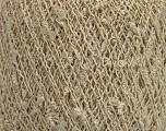 Fiber Content 9% Metallic Lurex, 35% Cotton, 31% Acrylic, 25% Polyamide, Brand ICE, Gold, Cream, fnt2-54241