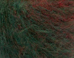 Fiber Content 63% Acrylic, 37% Wool, Red, Brand ICE, Green, Burgundy, fnt2-54451