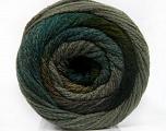 Fiber Content 90% Acrylic, 10% Polyamide, Brand ICE, Grey Shades, Green Shades, Yarn Thickness 4 Medium  Worsted, Afghan, Aran, fnt2-54523