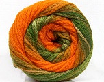 Fiber Content 90% Acrylic, 10% Polyamide, Orange, Brand ICE, Green Shades, Yarn Thickness 4 Medium  Worsted, Afghan, Aran, fnt2-54528