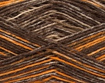 Fiber Content 75% Superwash Wool, 25% Polyamide, Brand ICE, Gold, Brown Shades, fnt2-54879