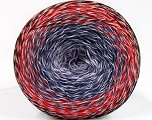 Fiber Content 50% Acrylic, 50% Cotton, White, Red, Maroon, Lilac Shades, Brand ICE, Yarn Thickness 2 Fine  Sport, Baby, fnt2-55071