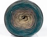 Fiber Content 50% Acrylic, 50% Cotton, Turquoise, Brand ICE, Grey Shades, Cream, Yarn Thickness 2 Fine  Sport, Baby, fnt2-55243