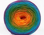 Fiber Content 50% Acrylic, 50% Cotton, Rainbow, Brand ICE, Yarn Thickness 2 Fine  Sport, Baby, fnt2-55256