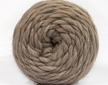 Fiber Content 100% Wool, Brand ICE, Camel, Yarn Thickness 6 SuperBulky  Bulky, Roving, fnt2-55484