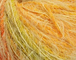 Fiber Content 60% Polyamide, 20% Cotton, 20% Acrylic, Orange, Brand ICE, Green, Gold, fnt2-56753