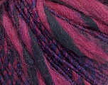 Fiber Content 45% Wool, 25% Acrylic, 20% Alpaca, 10% Metallic Lurex, Purple, Brand ICE, Burgundy, Blue, Yarn Thickness 5 Bulky  Chunky, Craft, Rug, fnt2-56987