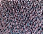 Fiber Content 85% Viscose, 25% Metallic Lurex, Lilac, Brand ICE, Blue, Yarn Thickness 3 Light  DK, Light, Worsted, fnt2-57026