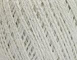 Fiber Content 85% Viscose, 25% Metallic Lurex, White, Silver, Brand ICE, Yarn Thickness 3 Light  DK, Light, Worsted, fnt2-57031