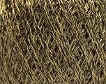 Fiber Content 85% Viscose, 25% Metallic Lurex, Light Olive Green, Brand ICE, Brown, Yarn Thickness 3 Light  DK, Light, Worsted, fnt2-57037