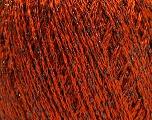Fiber Content 85% Viscose, 25% Metallic Lurex, Orange, Brand ICE, Black, Yarn Thickness 3 Light  DK, Light, Worsted, fnt2-57042