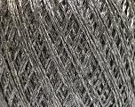 Fiber Content 85% Viscose, 25% Metallic Lurex, Silver, Brand ICE, Grey, Yarn Thickness 3 Light  DK, Light, Worsted, fnt2-57171