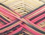 Fiber Content 85% Cotton, 15% Polyamide, Yellow, Pink, Brand ICE, Grey, fnt2-57193