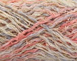 Fiber Content 45% Acrylic, 35% Cotton, 20% Polyamide, White, Light Pink, Light Lilac, Brand ICE, Yarn Thickness 3 Light  DK, Light, Worsted, fnt2-57260