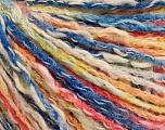 Fiber Content 50% Cotton, 50% Acrylic, Yellow, White, Salmon, Brand ICE, Blue, Yarn Thickness 4 Medium  Worsted, Afghan, Aran, fnt2-57274