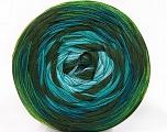 Fiber Content 50% Acrylic, 50% Cotton, Turquoise, Light Blue, Khaki, Brand ICE, Green Shades, Yarn Thickness 2 Fine  Sport, Baby, fnt2-57331