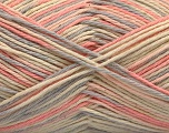 Fiber Content 100% Acrylic, Light Pink, Light Grey, Brand ICE, Cream, Yarn Thickness 2 Fine  Sport, Baby, fnt2-57361