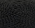 Fiber Content 80% Acrylic, 20% Polyamide, Brand ICE, Black, Yarn Thickness 3 Light  DK, Light, Worsted, fnt2-57371