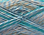 Fiber Content 100% Acrylic, Turquoise, Brand ICE, Camel, Blue Shades, Beige, Yarn Thickness 3 Light  DK, Light, Worsted, fnt2-57385