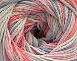 Fiber Content 100% Acrylic, White, Salmon, Light Pink, Light Lilac, Brand ICE, fnt2-57743