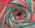 Fiber Content 100% Acrylic, White, Salmon Shades, Mint Green, Brand ICE, fnt2-57745