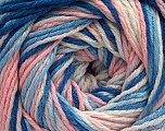 Fiber Content 100% Acrylic, White, Light Pink, Brand ICE, Blue Shades, fnt2-57746