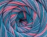 Fiber Content 100% Acrylic, Turquoise Shades, Salmon, Lilac, Brand ICE, fnt2-57749