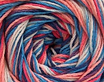 Fiber Content 100% Acrylic, White, Salmon Shades, Brand ICE, Blue Shades, fnt2-57752