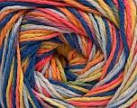 Fiber Content 100% Acrylic, Yellow, Salmon, Orange, Brand ICE, Blue Shades, fnt2-57754