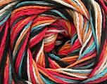 Fiber Content 100% Acrylic, White, Turquoise, Salmon, Orange, Brand ICE, Black, fnt2-57764