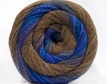 Fiber Content 90% Acrylic, 10% Polyamide, Purple, Brand ICE, Brown, Blue Shades, fnt2-57783