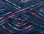 Fiber Content 55% Acrylic, 45% Polyamide, Pink, Navy, Brand ICE, Blue, fnt2-57882