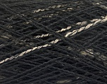 Fiber Content 80% Acrylic, 20% Wool, Brand ICE, Cream, Black, fnt2-57915