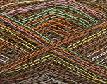 Fiber Content 40% Polyamide, 40% Baby Alpaca, 20% Cotton, White, Pink, Orange, Brand ICE, Green, Brown Shades, Yarn Thickness 1 SuperFine  Sock, Fingering, Baby, fnt2-57950