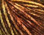 Fiber Content 60% Polyamide, 20% Acrylic, 20% Cotton, Orange, Brand ICE, Green, Gold, Brown, fnt2-57963