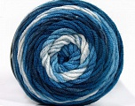 Fiber Content 100% Acrylic, White, Brand ICE, Blue Shades, fnt2-58024