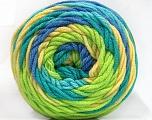 Fiber Content 100% Acrylic, Yellow, Turquoise, Light Green, Brand ICE, Blue, fnt2-58031