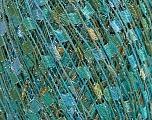 Trellis  Fiber Content 95% Polyester, 5% Lurex, White, Turquoise, Mint Green, Brand ICE, fnt2-58062