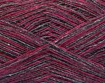 Fiber Content 80% Wool, 20% Polyamide, Brand ICE, Grey, Fuchsia, fnt2-58075